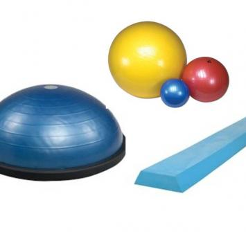 Some of the equipment for proprioception training